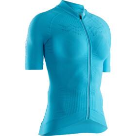 X-Bionic Effektor G2 Fiets Jersey Korte Mouwen Doorlopende Rits Dames, turquoise